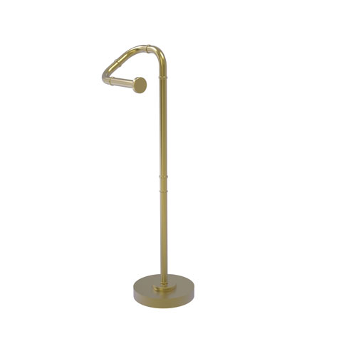 Remi Satin Brass Eight-Inch Free Standing Toilet Tissue Stand