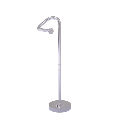 Remi Satin Chrome Eight-Inch Free Standing Toilet Tissue Stand
