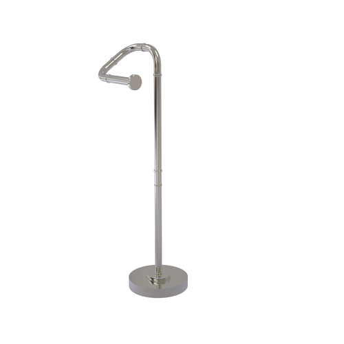 Remi Satin Nickel Eight-Inch Free Standing Toilet Tissue Stand