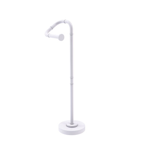 Remi Matte White Eight-Inch Free Standing Toilet Tissue Stand