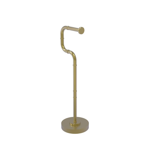 Remi Satin Brass Six-Inch Free Standing Toilet Tissue Stand