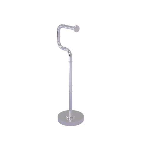 Remi Satin Chrome Six-Inch Free Standing Toilet Tissue Stand