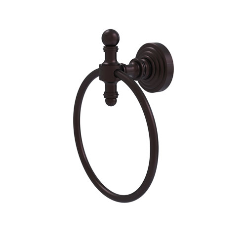 Retro Wave Antique Bronze Six-Inch Towel Ring