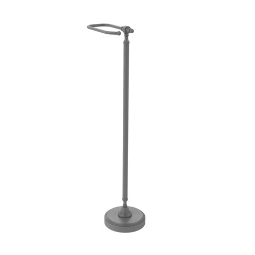 Retro Wave Matte Gray Six-Inch Free Standing Toilet Tissue Stand