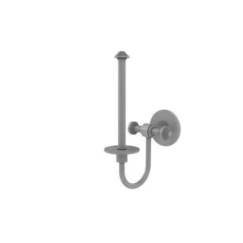Southbeach Matte Gray Seven-Inch Upright Toilet Tissue Holder