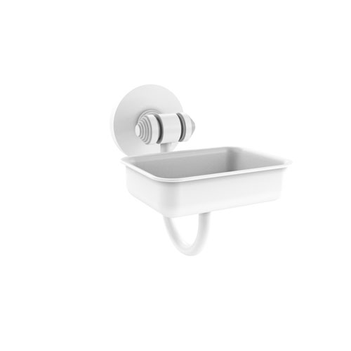 Southbeach Matte White Four-Inch Wall Mounted Soap Dish