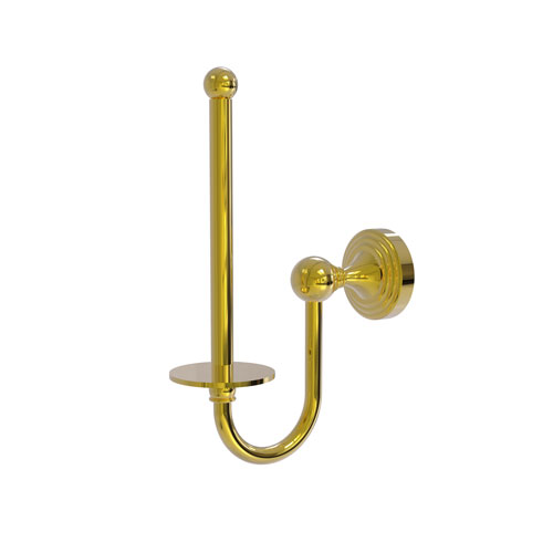 Sag Harbor Polished Brass Two-Inch Upright Toilet Tissue Holder