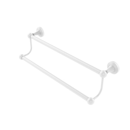 Sag Harbor Matte White 24-Inch Double Towel Bar
