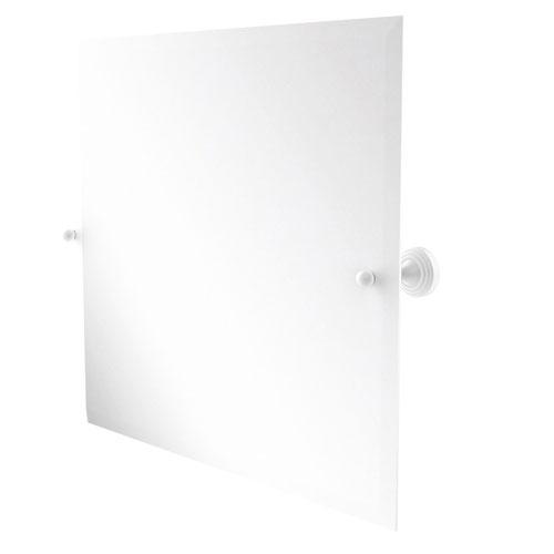 Sag Harbor Matte White 21-Inch Frameless Rectangular Tilt Mirror with Beveled Edge