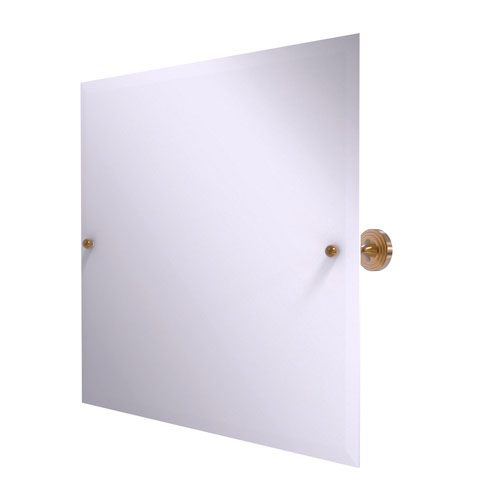 Sag Harbor Brushed Bronze 22-Inch Frameless Landscape Rectangular Tilt Mirror with Beveled Edge