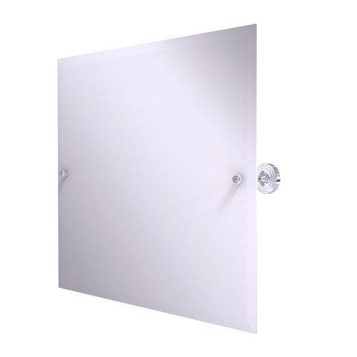 Sag Harbor Polished Chrome 22-Inch Frameless Landscape Rectangular Tilt Mirror with Beveled Edge
