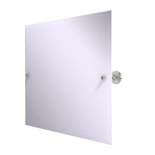 Sag Harbor Satin Nickel 22-Inch Frameless Landscape Rectangular Tilt Mirror with Beveled Edge