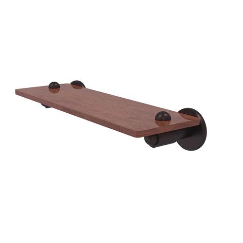 Soho Antique Bronze 16-Inch Solid IPE Ironwood Shelf