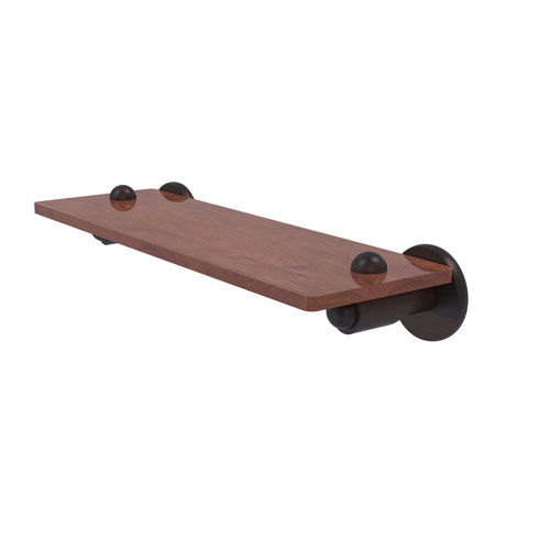 Soho Venetian Bronze 16-Inch Solid IPE Ironwood Shelf