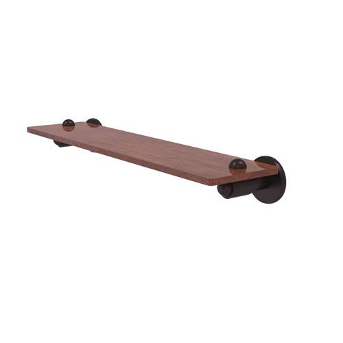 Soho Antique Bronze 22-Inch Solid IPE Ironwood Shelf