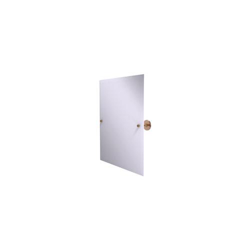 Shadwell Brushed Bronze 21-Inch Frameless Rectangular Tilt Mirror with Beveled Edge