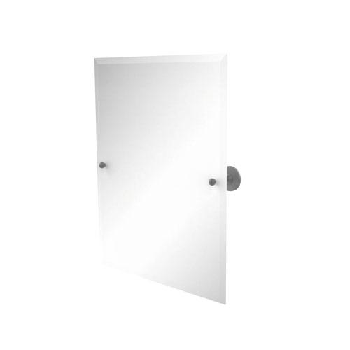 Shadwell Matte Gray 21-Inch Frameless Rectangular Tilt Mirror with Beveled Edge