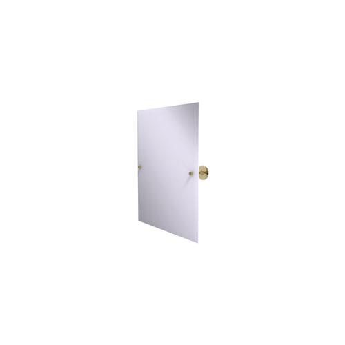 Shadwell Unlacquered Brass 21-Inch Frameless Rectangular Tilt Mirror with Beveled Edge