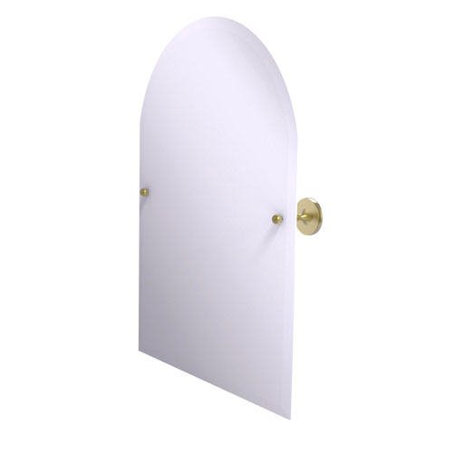 Shadwell Satin Brass 21-Inch Frameless Arched Top Tilt Mirror with Beveled Edge