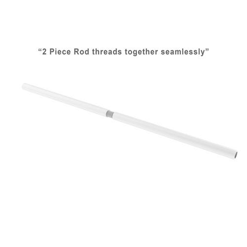 Matte White One-Inch Shower Curtain Rod