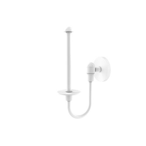 Tango Matte White Seven-Inch Upright Toilet Tissue Holder