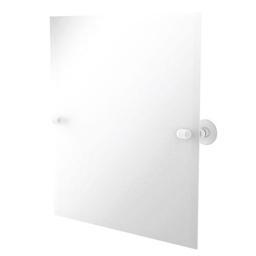 Tango Matte White 21-Inch Frameless Rectangular Tilt Mirror with Beveled Edge