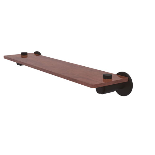 Tribecca Oil Rubbed Bronze 22-Inch Solid IPE Ironwood Shelf