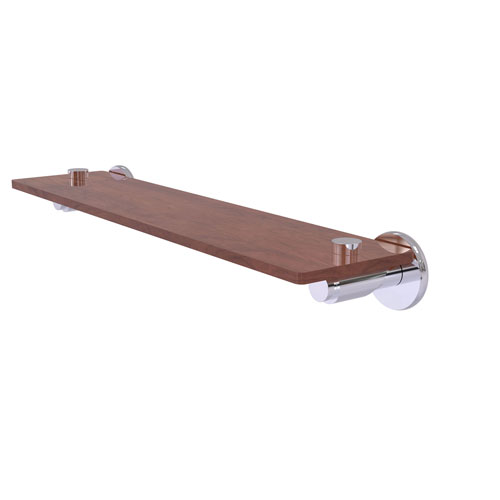 Tribecca Polished Chrome 22-Inch Solid IPE Ironwood Shelf