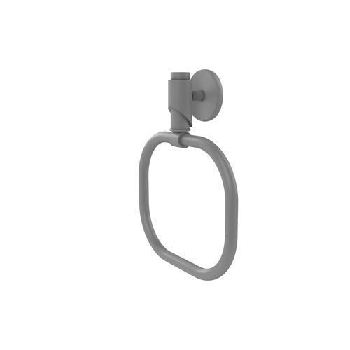 Tribecca Matte Gray Six-Inch Towel Ring