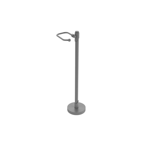 Tribecca Matte Gray Six-Inch Free Standing Toilet Tissue Stand