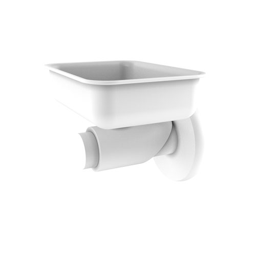 Tribecca Matte White Four-Inch Wall Mounted Soap Dish