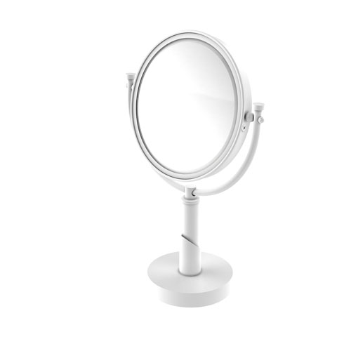 Tribecca Matte White Eight-Inch Vanity Top Make-Up Mirror 4X Magnification