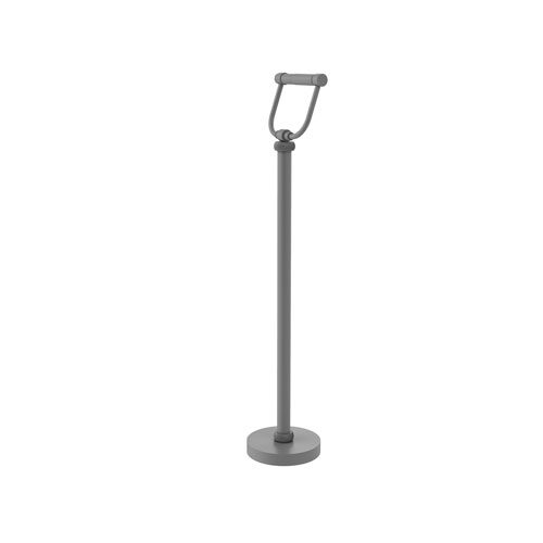 Matte Gray Six-Inch Free Standing Toilet Tissue Stand