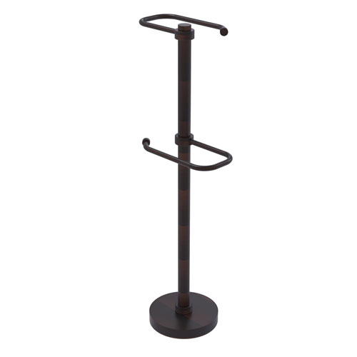 Venetian Bronze Six-Inch Free Standing Two Roll Toilet Tissue Stand