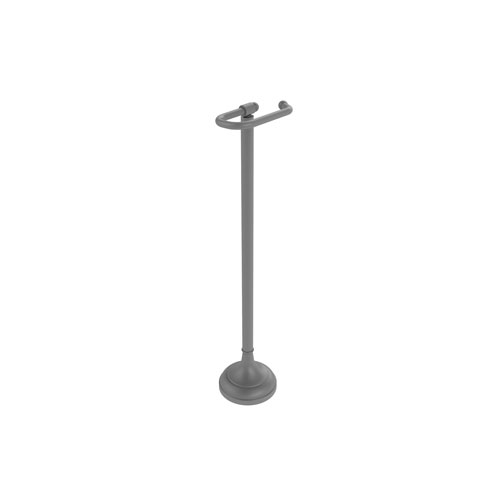 Matte Gray Six-Inch Free Standing Toilet Tissue Holder