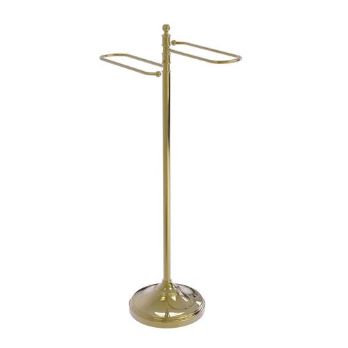 Unlacquered Brass 11-Inch Free Standing Floor Bath Towel Valet