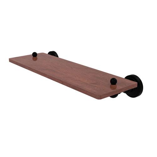Waverly Place Matte Black 16-Inch Solid IPE Ironwood Shelf