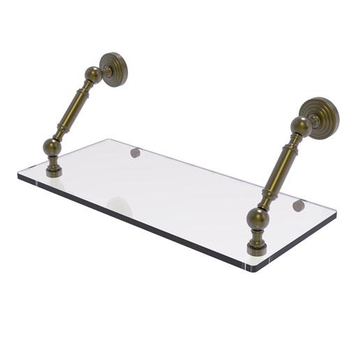 Waverly Place Antique Brass 18-Inch Floating Glass Shelf