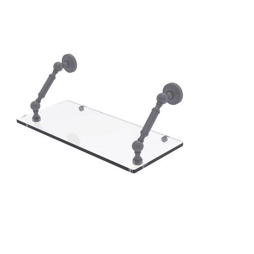Waverly Place Matte Gray 18-Inch Floating Glass Shelf
