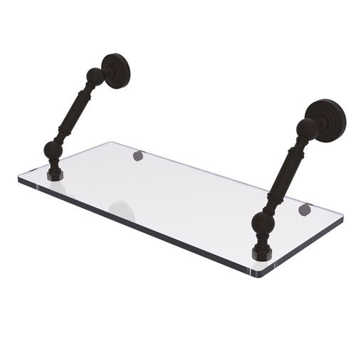 Waverly Place Oil Rubbed Bronze 18-Inch Floating Glass Shelf