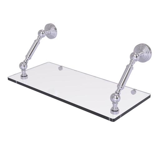 Waverly Place Satin Chrome 18-Inch Floating Glass Shelf