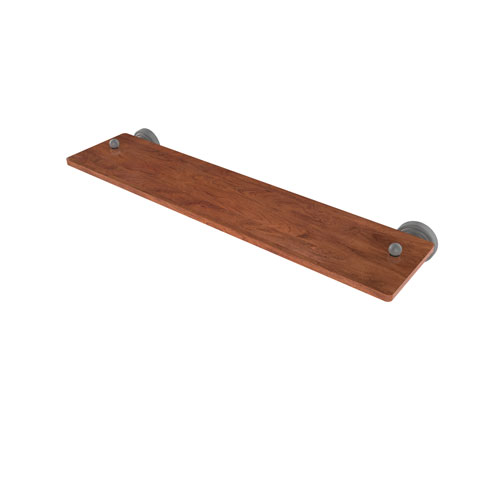 Waverly Place Matte Gray 22-Inch Solid IPE Ironwood Shelf
