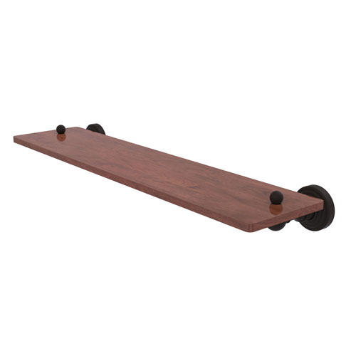 Waverly Place Oil Rubbed Bronze 22-Inch Solid IPE Ironwood Shelf