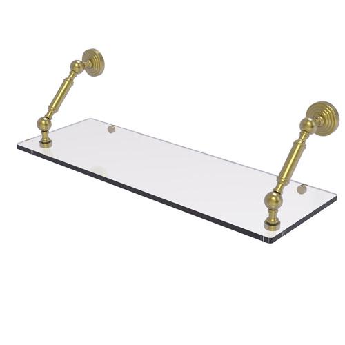 Waverly Place Satin Brass 24-Inch Floating Glass Shelf