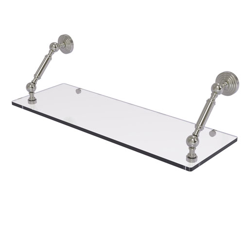 Waverly Place Satin Nickel 24-Inch Floating Glass Shelf