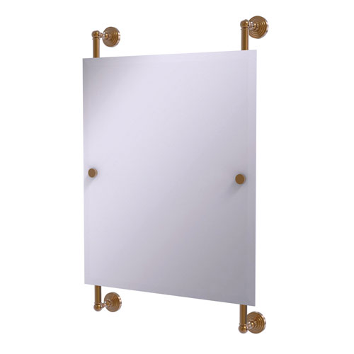 Waverly Place Brushed Bronze 21-Inch Rectangular Frameless Rail Mounted Mirror