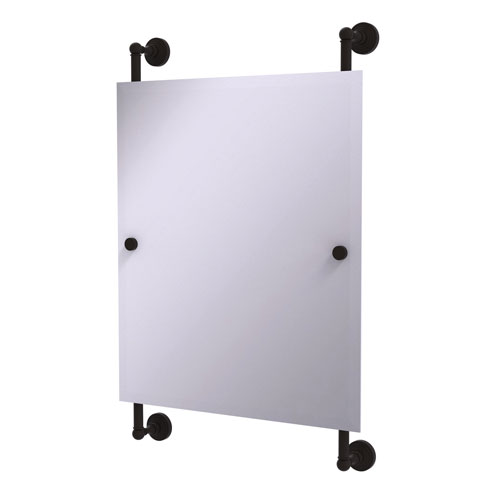 Waverly Place Oil Rubbed Bronze 21-Inch Rectangular Frameless Rail Mounted Mirror