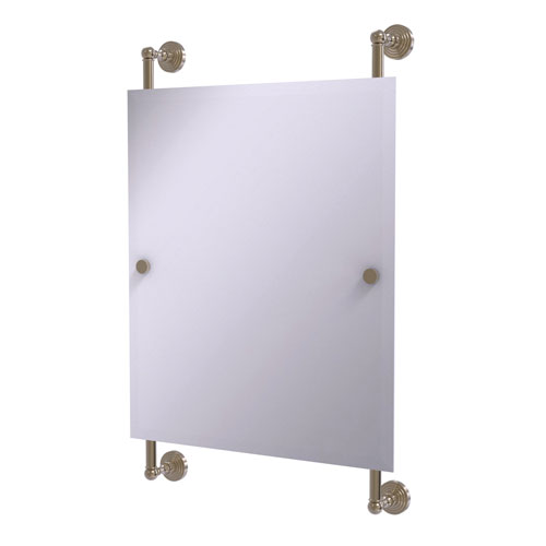 Waverly Place Antique Pewter 21-Inch Rectangular Frameless Rail Mounted Mirror