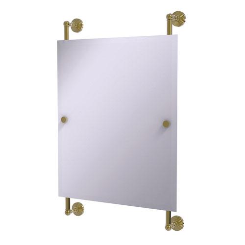 Waverly Place Unlacquered Brass 21-Inch Rectangular Frameless Rail Mounted Mirror