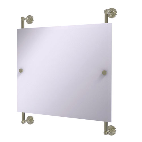 Waverly Place Polished Nickel 26-Inch Landscape Rectangular Frameless Rail Mounted Mirror